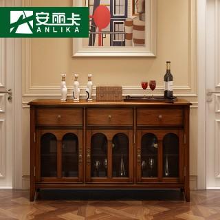 厅柜简美烤漆边柜厨房柜子图片