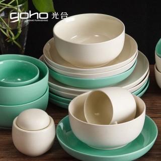 陶瓷碗盘子菜盘米饭碗西餐餐具套装圆盘家用碗碟可微波
