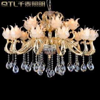 led水晶吊灯美式蜡烛水晶灯欧式客厅灯