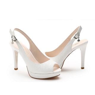 凉鞋女浅口鱼嘴高跟鞋细跟防水台女鞋162137050
