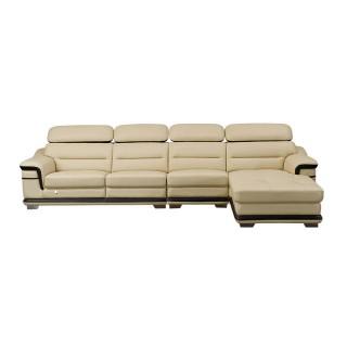 欧式真皮沙发组合客厅大户型整装小奢华客厅转角皮艺沙发608